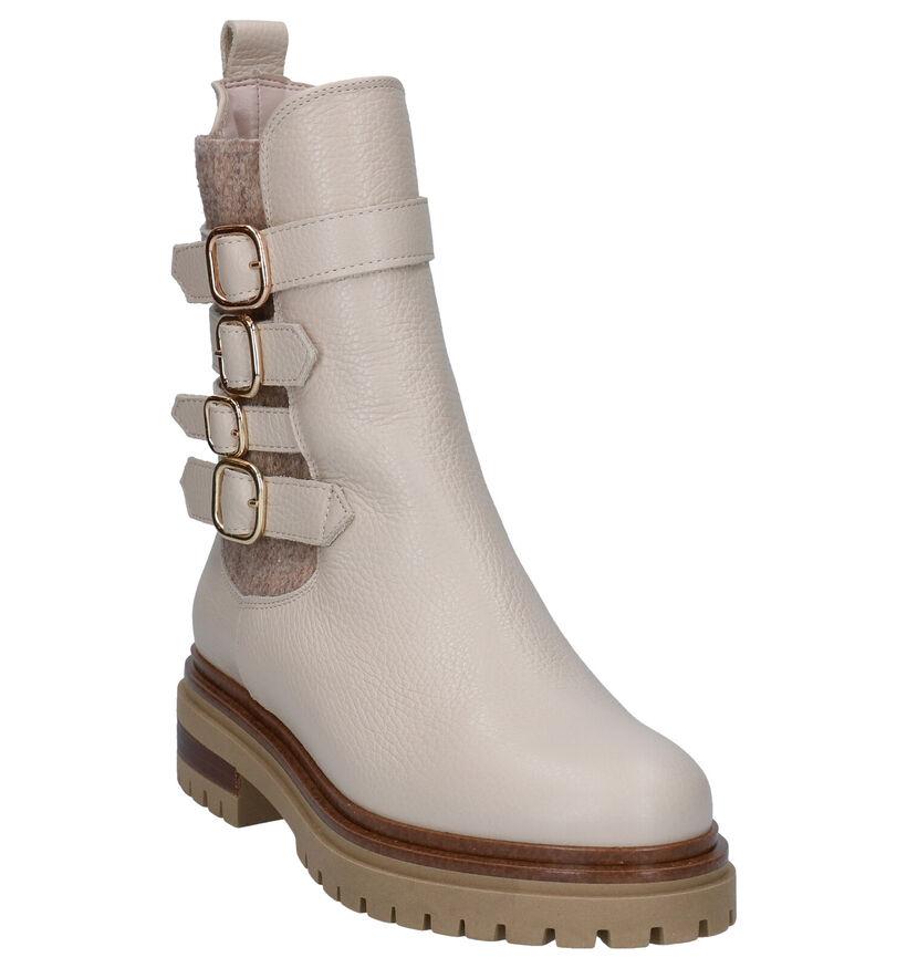 Hampton Bays Agata Ecru Boots in leer (299158)