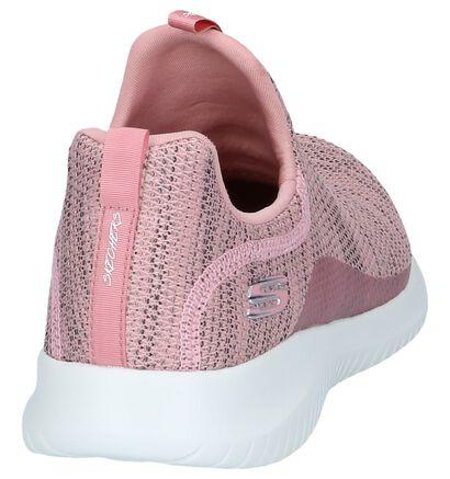 Zwarte Slip-on Sneakers Skechers Ultra Flex, Roze, pdp