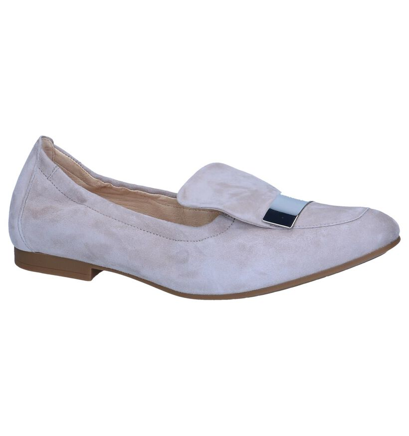 Taupe Loafers Gabor in daim (245351)