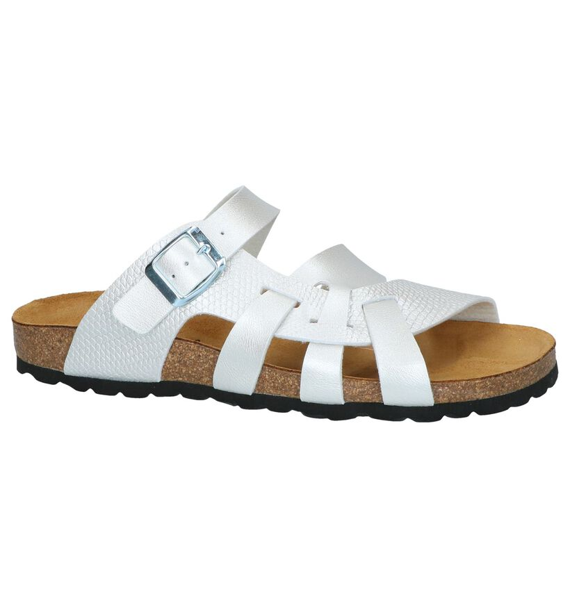 Bio Dream Nu-pieds plates en Argent en simili cuir (251147)