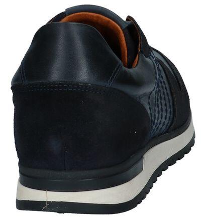 Borgo Sport Chaussures basses en Bleu foncé en cuir (227591)