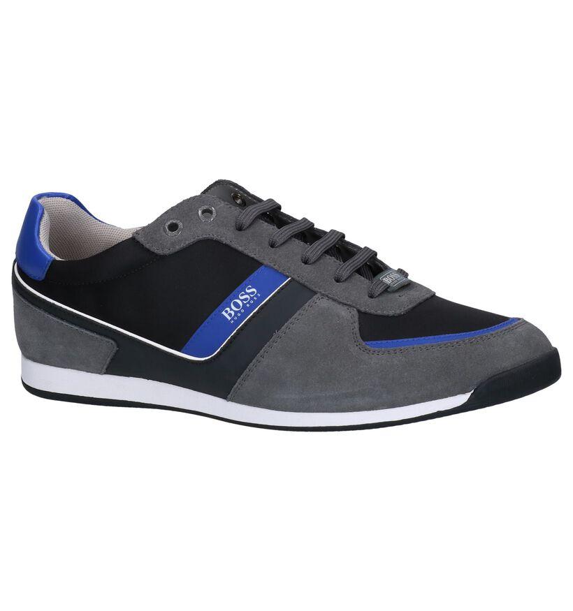 Hugo Boss Chaussures basses en Gris foncé en textile (251617)