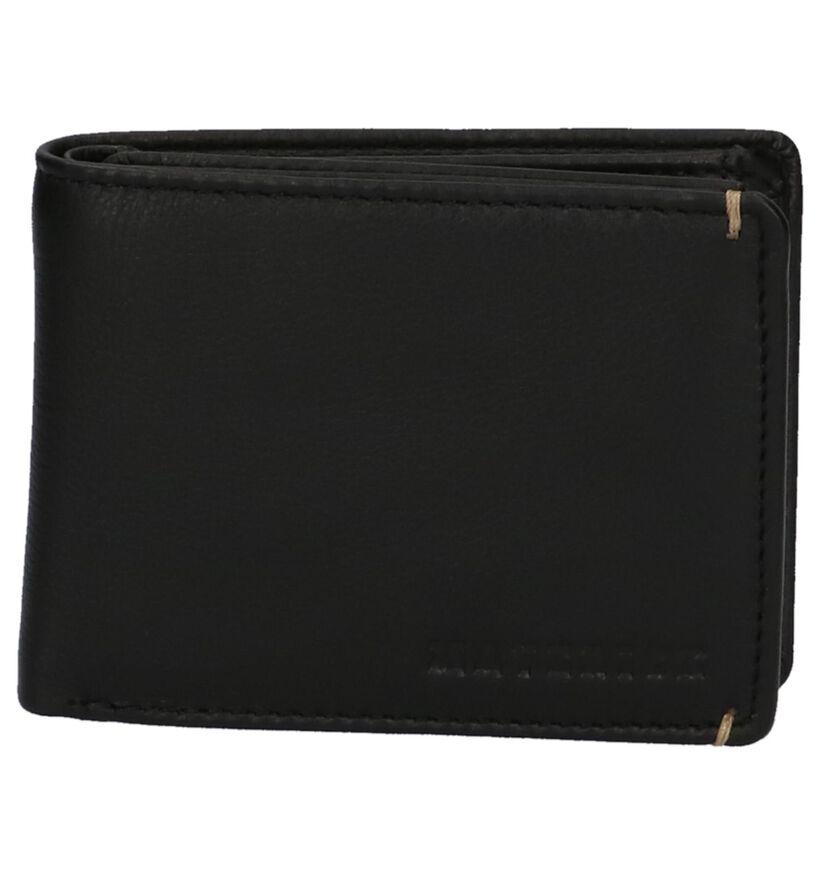 Zwarte Maverick Portefeuille in leer (221115)