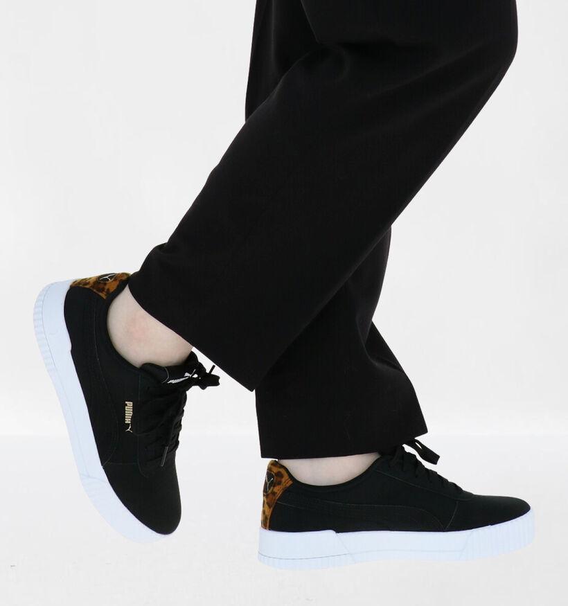 Puma Carina Leo Baskets en Noir en simili cuir (276777)