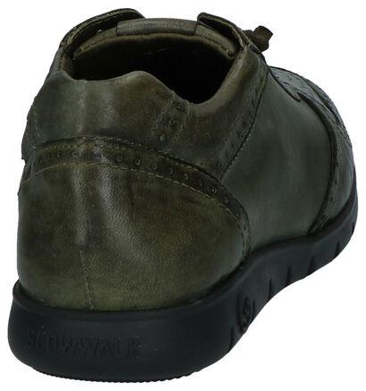 Slowwalk Chaussures basses en Vert en cuir (232384)