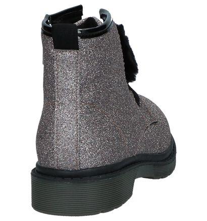 Gouden Boots Rits/Veter met Glitters K3, Roze, pdp