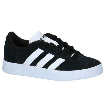 Zwarte adidas VL Court 2.0 K Sneakers in daim (221643)