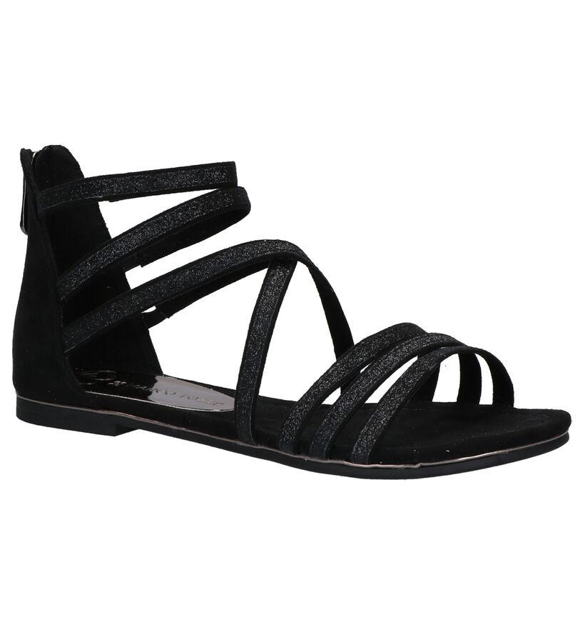 Marco Tozzi Zwarte Sandalen in stof (270706)