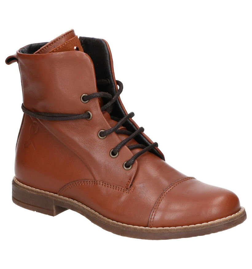 Milo & Mila Cognac Boots in leer (254935)