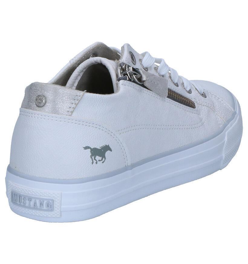 Mustang Witte Lage Schoenen in kunstleer (266723)