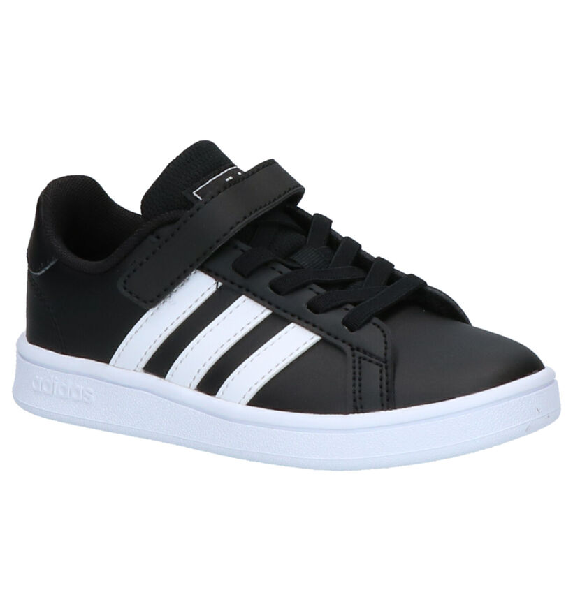 adidas Grand Court Zwarte Sneakers in kunstleer (273466)