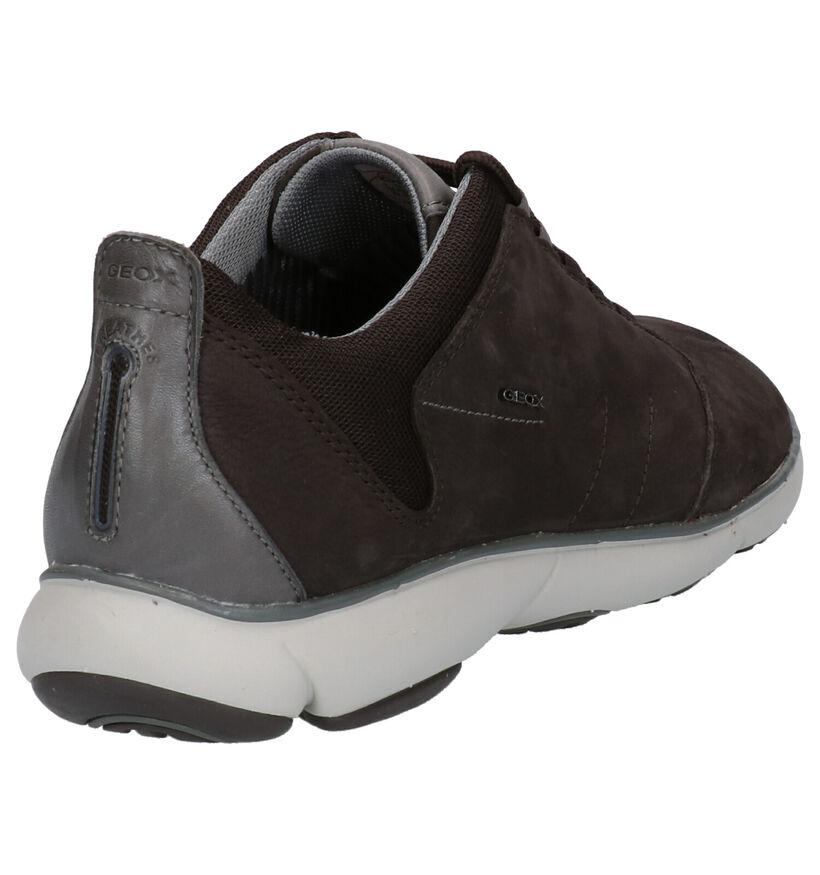 Geox Grijze Sneakers in leer (264012)
