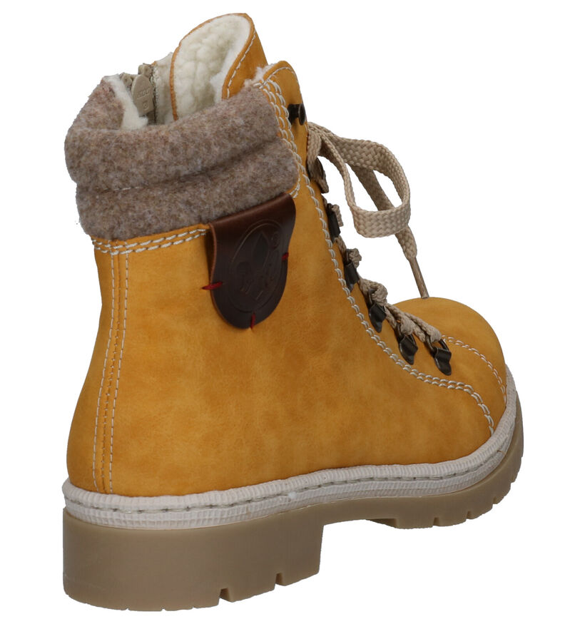 Rieker Bottines en Jaune en simili cuir (262100)