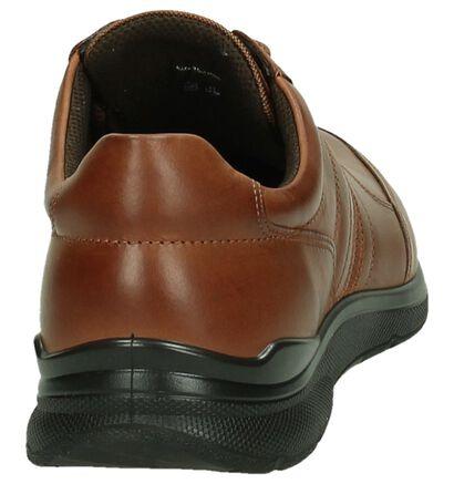 Zwarte Casual Schoenen met Veters Ecco Irving, Cognac, pdp
