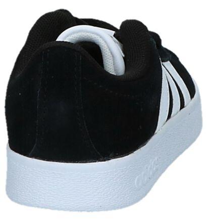 adidas VL Court 2.0 K Baskets en Noir en daim (221643)