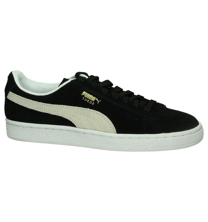 Puma Suede Classic Zwarte Sneakers in kunstleer (200789)
