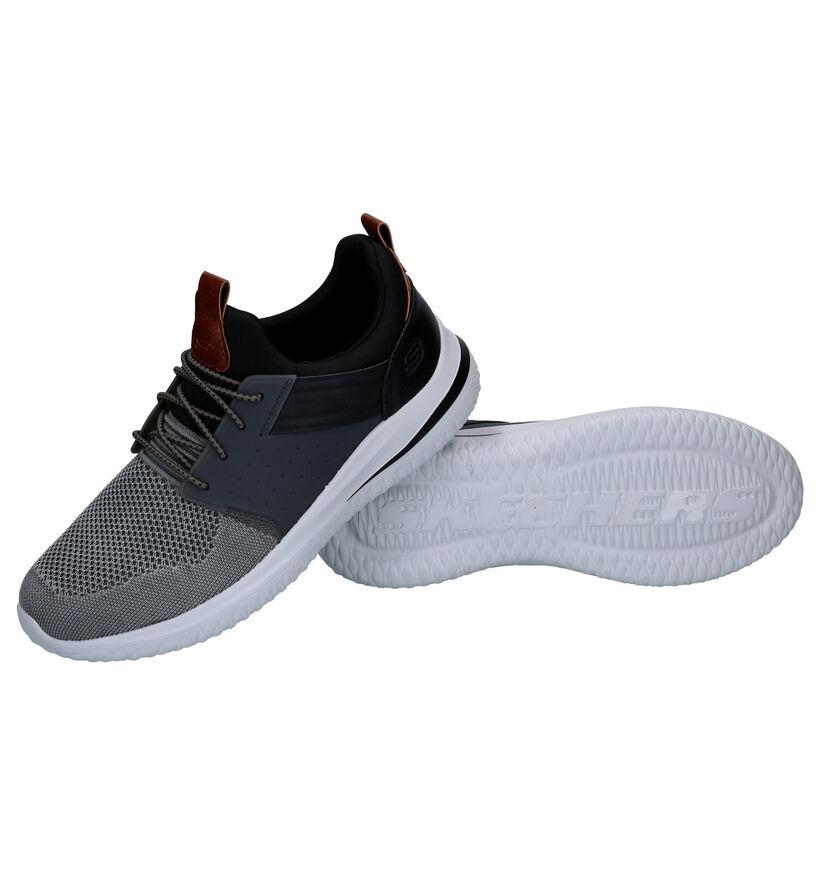 Skechers Delson 3.0 Grijze Slip-on Sneakers in kunstleer (287009)