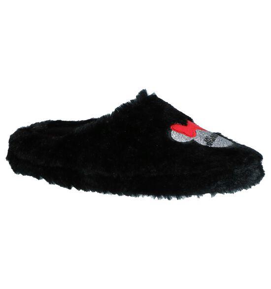 Zwarte Pantoffels Minnie Mouse