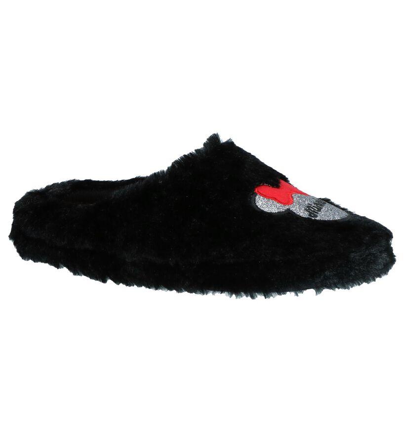 Minnie Mouse Pantoufles ouvertes en Noir en textile (232446)