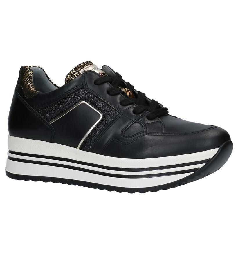 NeroGiardini Chaussures à lacets en Noir en cuir (278984)