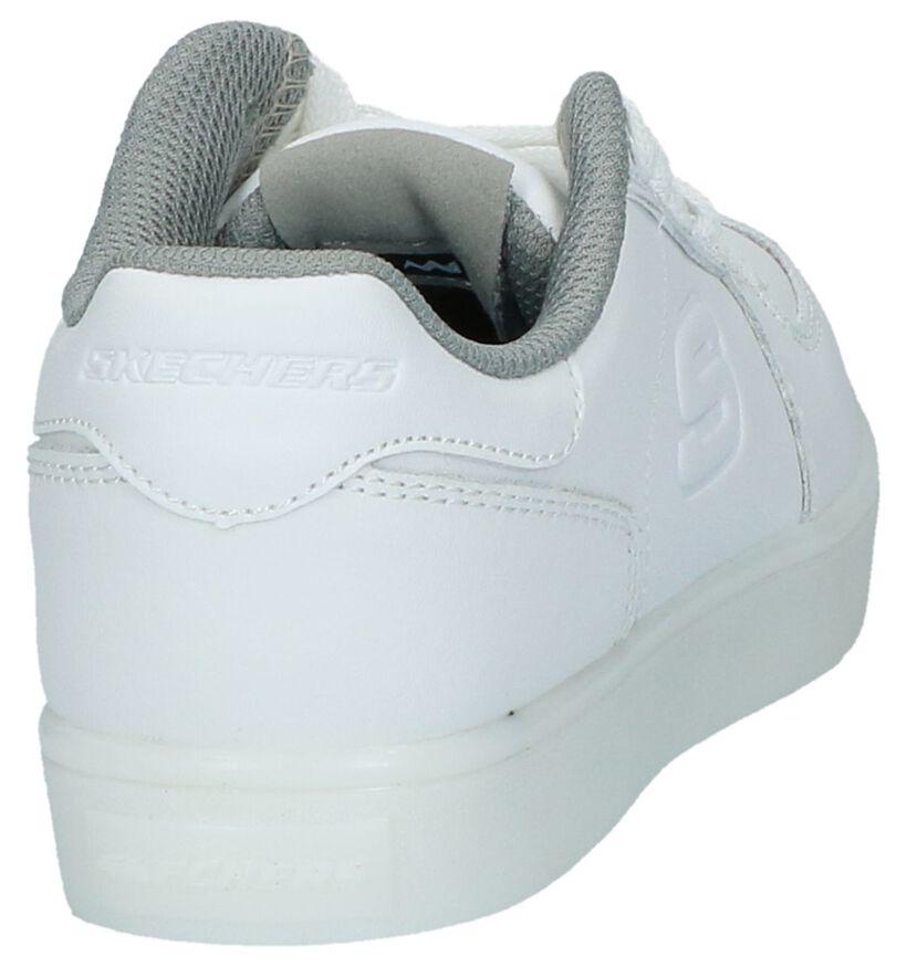 Witte Skechers Lage Sneakers met Lichtjes in kunstleer (210344)