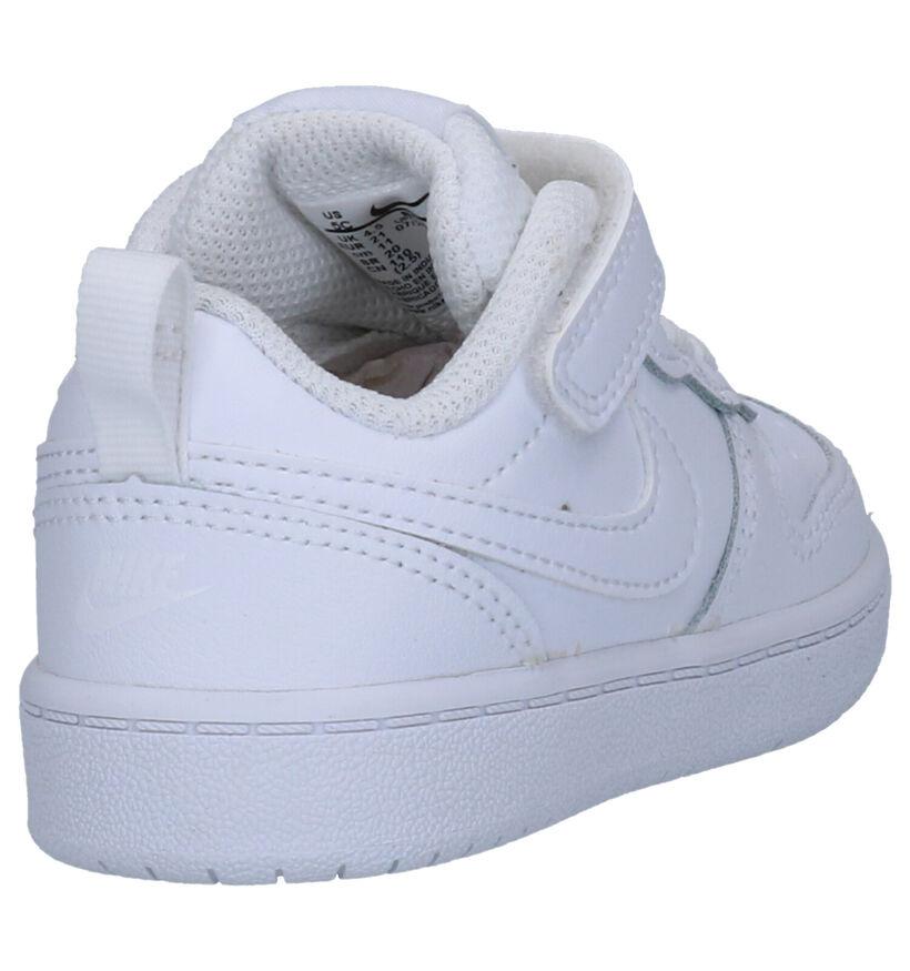 Nike Court Borough Low Baskets en Blanc en cuir (261644)