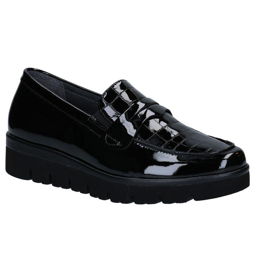 Gabor OptiFit Zwarte Loafers in leer (282356)