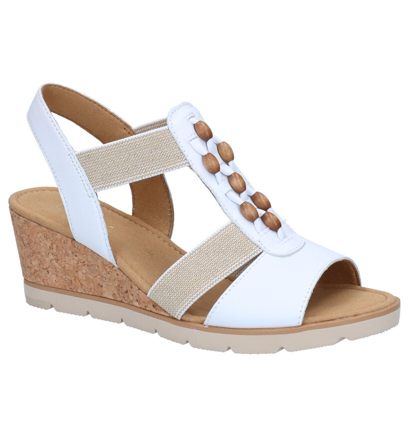 Gabor Witte Sandalen in leer (271735)