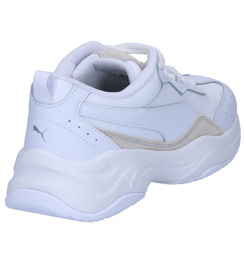 Puma Cilia Lux Witte Sneakers in leer (252593)