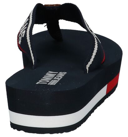 Teenslippers met Plateauzool Tommy Hilfiger Donker Blauw, Blauw, pdp