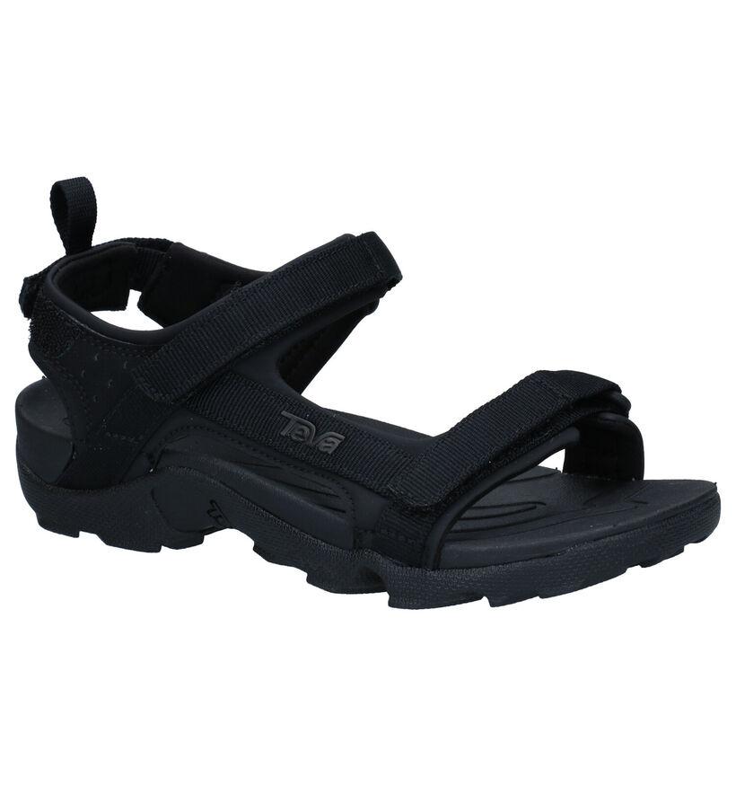 Teva Tanza Zwarte Sandalen in stof (273061)