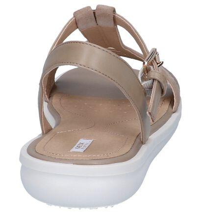 Witte Sandalen Geox, Beige, pdp