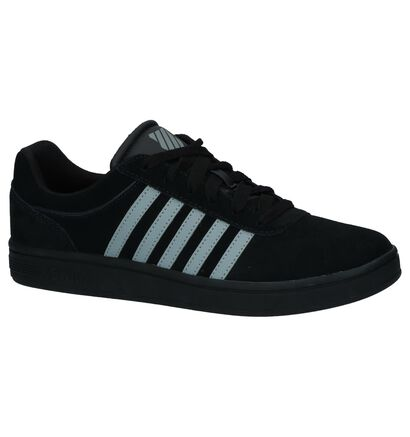 Zwarte Lage Sneakers K-Swiss Court Cheswick SDE in daim (225479)