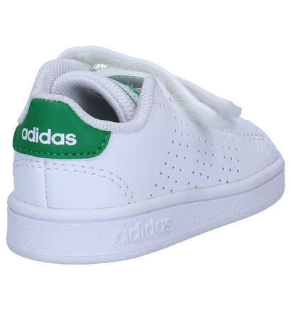 adidas Advantage Witte Sneakers in imitatieleer (252539)