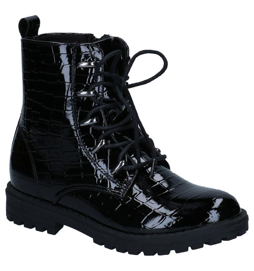 Milo & Mila Chaussures hautes en Noir en simili cuir (280832)