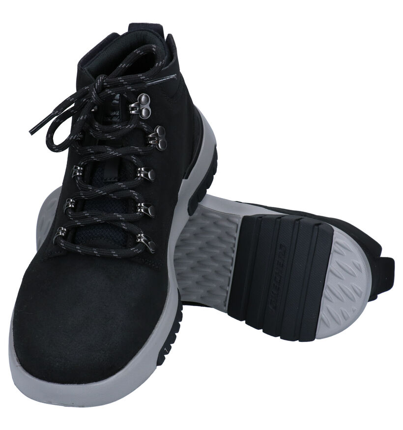 Skechers Bellinger Bottines en Noir en nubuck (279414)