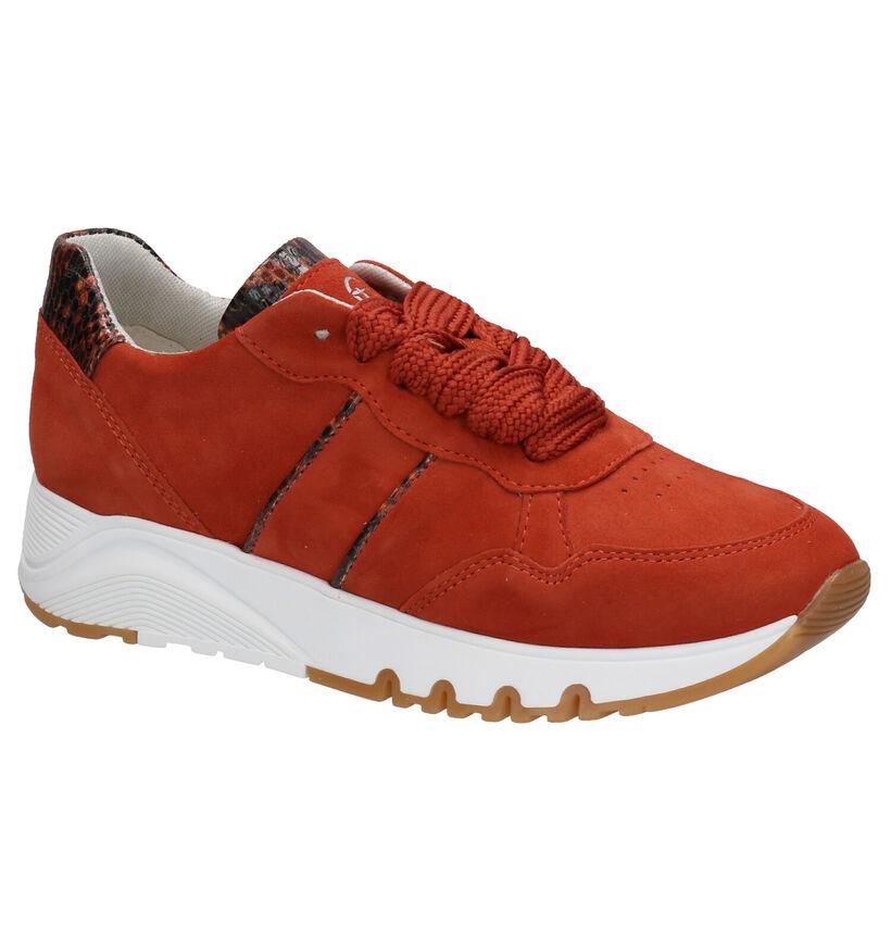 Tamaris TOUCH it Oranje Sneakers in daim (270124)