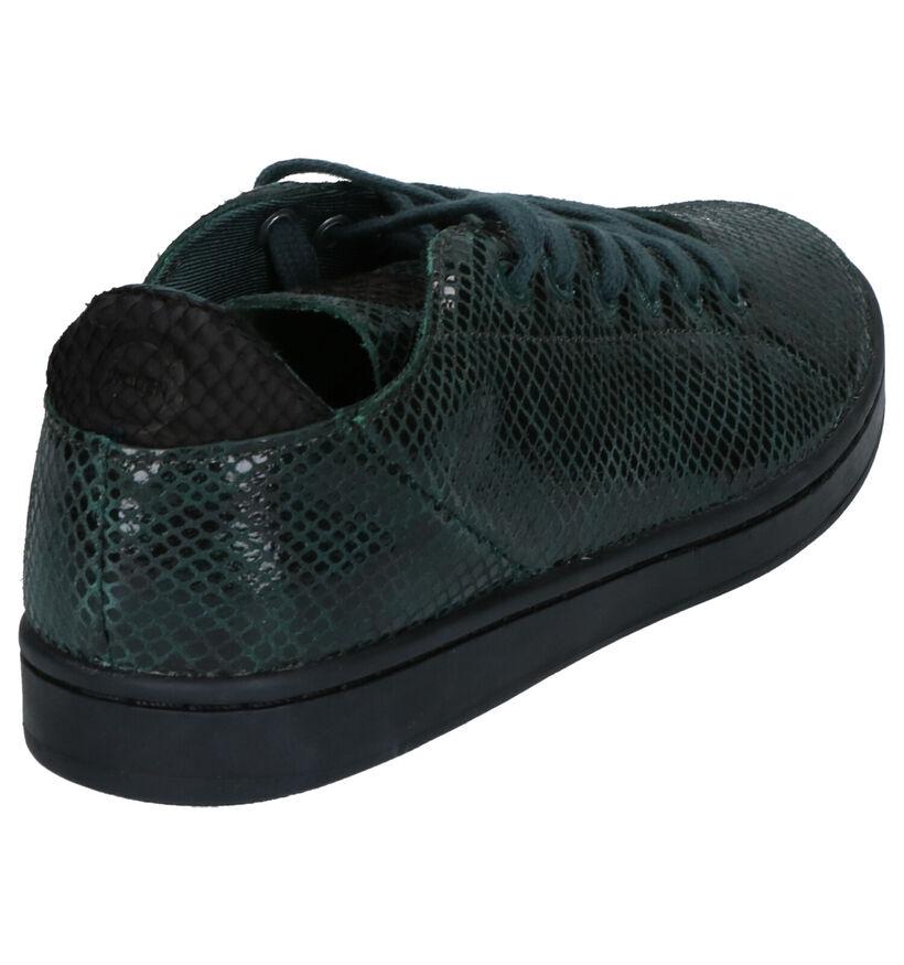 Woden Jane Snake Groene Sneakers in lak (254191)