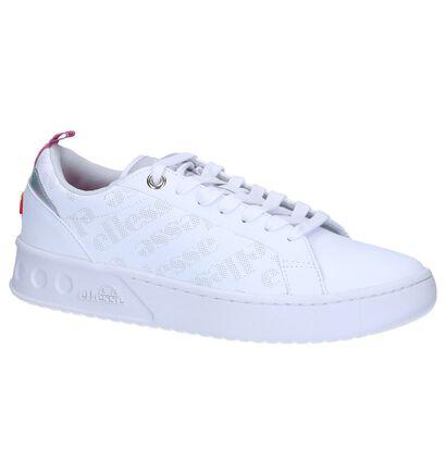 Ellesse Mezzaluna Baskets basses en Blanc en cuir (241716)