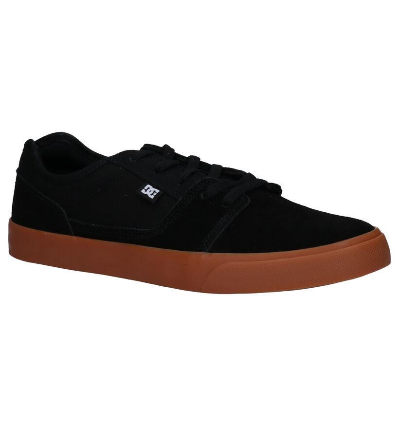 DC Shoes Baskets de skate en Noir en daim (223602)
