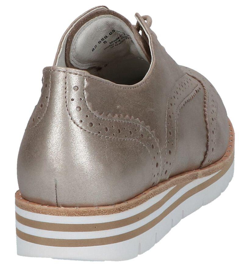 OptiFit Chaussures à lacets en Or rose en nubuck (216123)