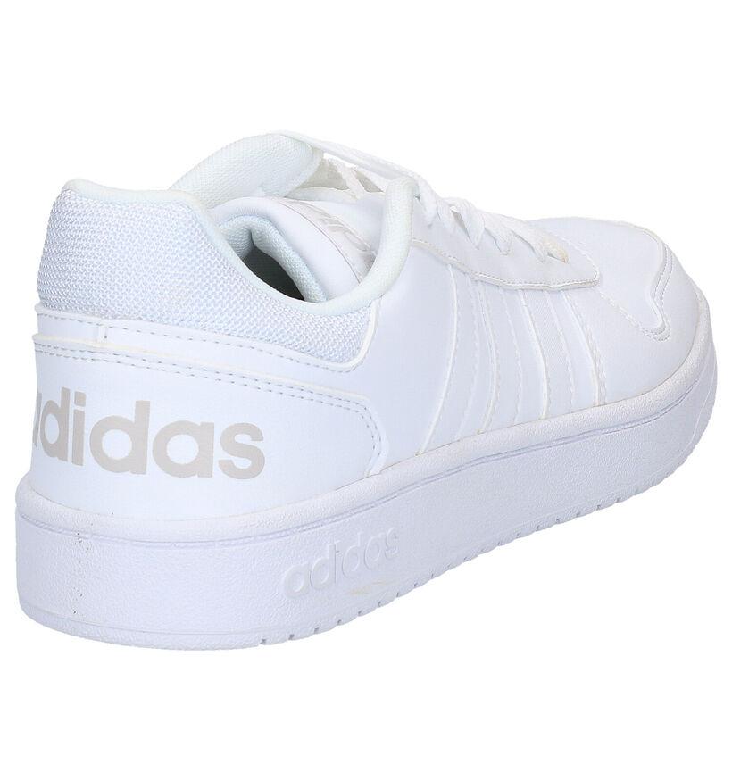 adidas Hoops 2.0 Baskets en Blanc en simili cuir (276427)