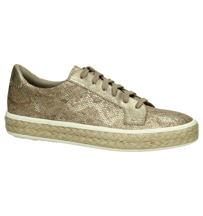 Tamaris Chaussures à lacets en Taupe en simili cuir (192488)