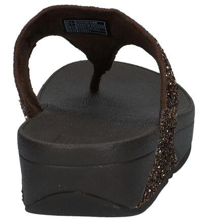 Bronzen FitFlop Glitterball Toe-Post Teenslippers, Brons, pdp