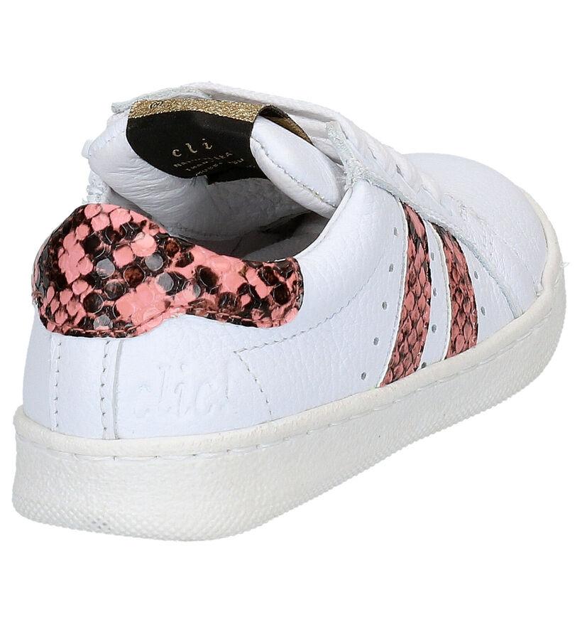 Clic! Witte Lage Sneakers in leer (270510)