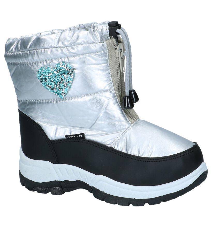 Zilveren Snowboots Stuff in stof (255557)