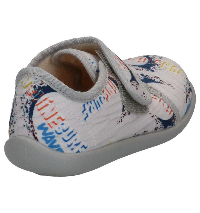 Bellamy Jirafe Pantoufles en Gris en textile (275517)