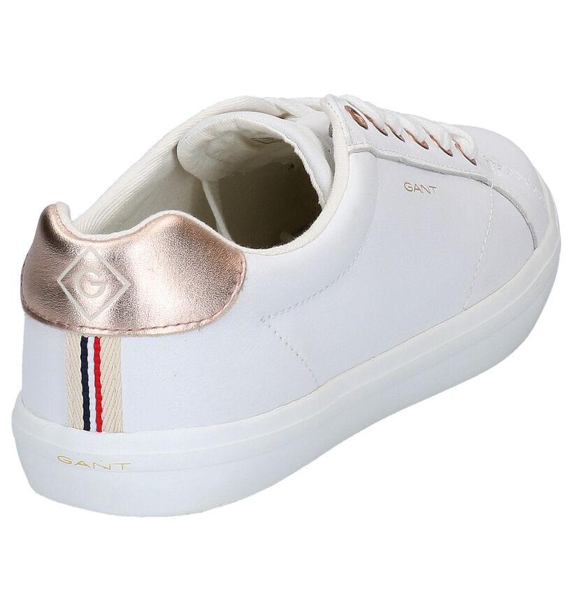 Gant Seaville Witte Veterschoenen in leer (271311)