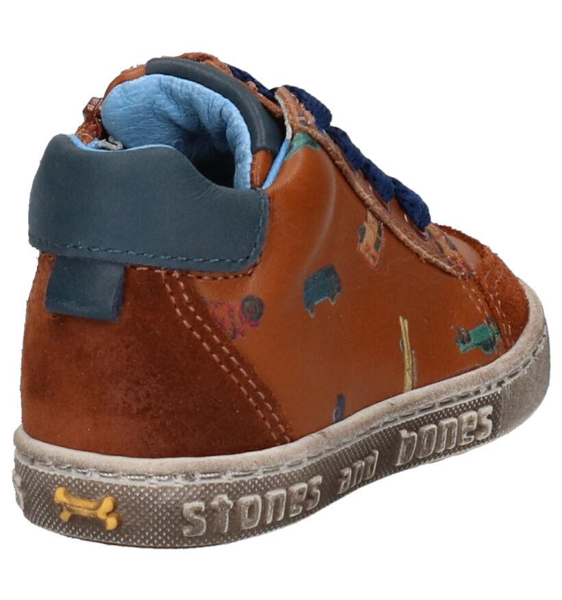 STONES and BONES COOP Chaussures à lacets en Vert en cuir (255455)