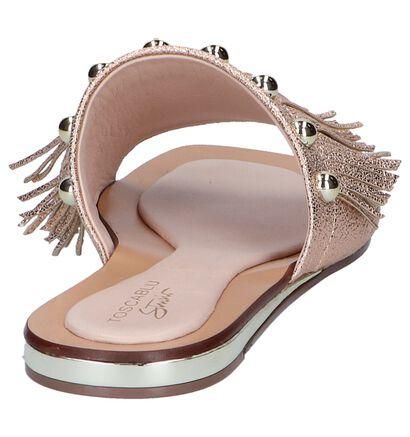 Tosca Blu Nu-pieds plates en Or rose en simili cuir (245987)